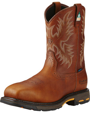 Ariat Men's WorkHog H2O CSA Work Boots - Composite Toe, Copper, hi-res
