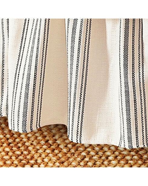 HiEnd Accents Prescott Navy Stripe Bedskirt - Queen, Navy, hi-res