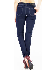 Grace in LA Women's Lina Easy Fit Skinny Jeans, Indigo, hi-res
