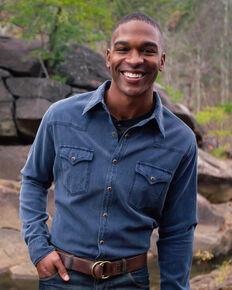 Ryan Michael Men's Bedford Corduroy Shirt , Blue, hi-res