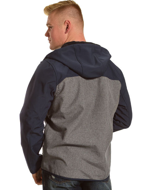 American Worker Men's Zion Soft-Shell Hooded Jacket, Charcoal, hi-res