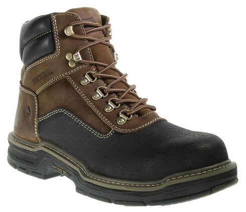 "Wolverine 6"" Corsair Waterproof Lace-Up Work Boots - Composite Toe, Brown, hi-res"