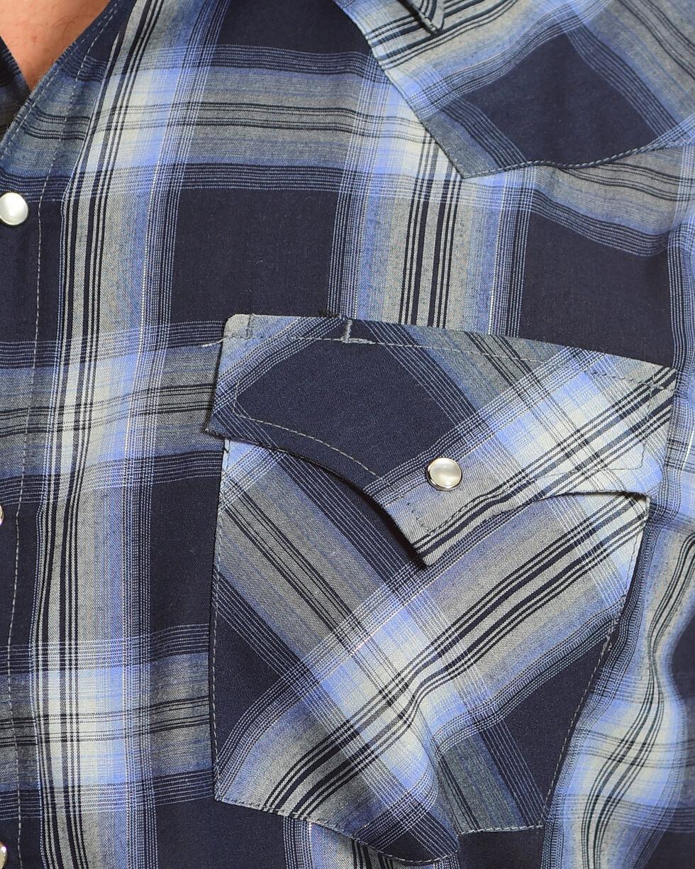 Ely Cattleman Men's Blue Lurex Plaid Western Shirt , Blue, hi-res
