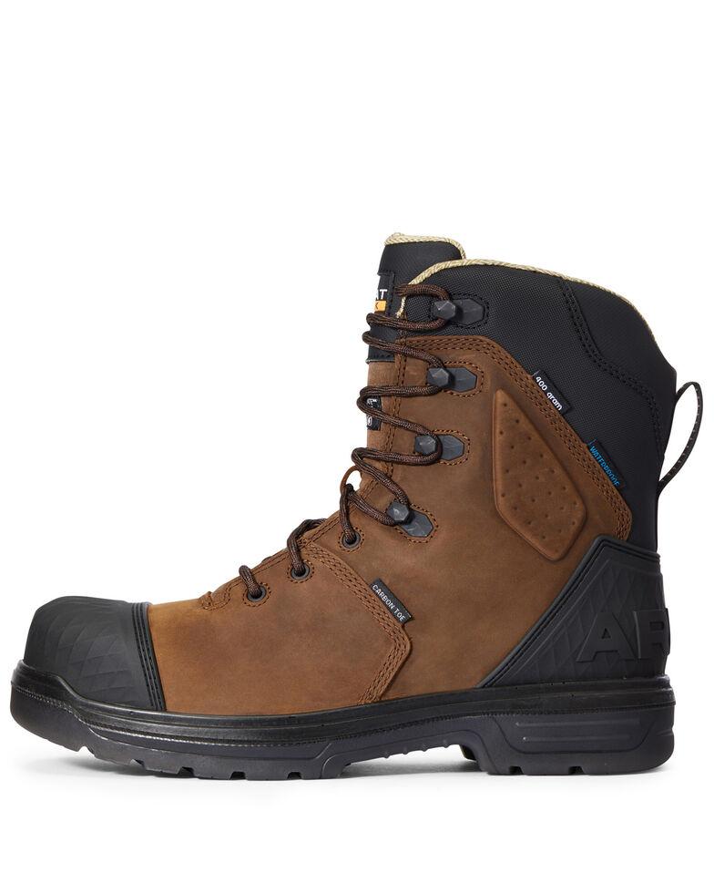 Ariat Men's Turbo Outlaw Waterproof Work Boots - Carbon Toe, Dark Brown, hi-res