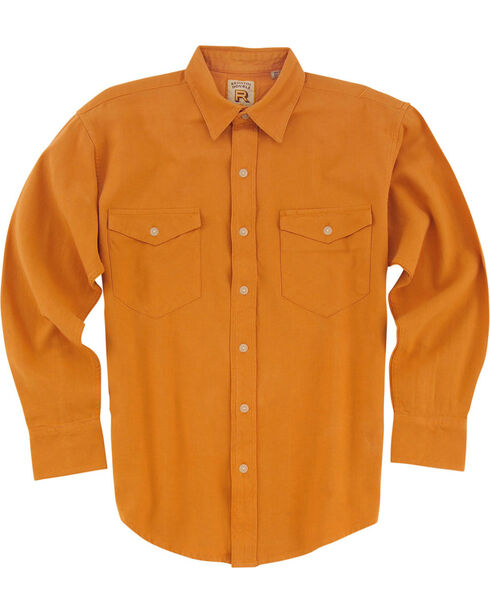 Resistol Men's Gold Austell Solid Long Sleeve Shirt , Gold, hi-res