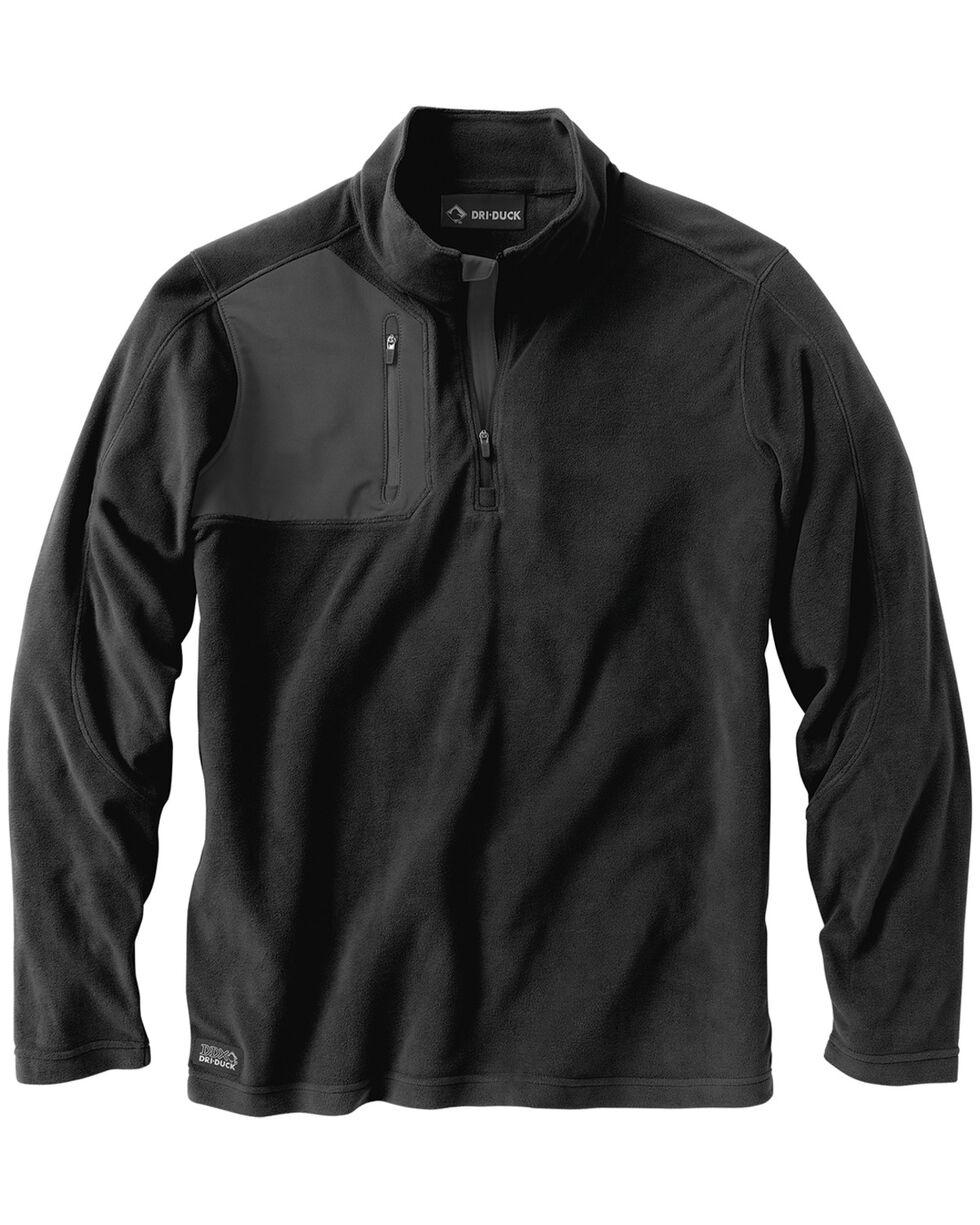 Dri Duck Men's Interval Quarter-Zip Fleece, Black, hi-res