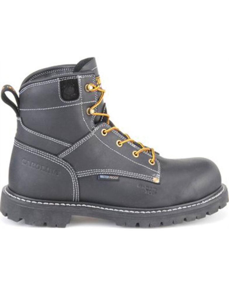 "Carolina Men's Black 6"" Waterproof Workboots - Composite Toe, Black, hi-res"