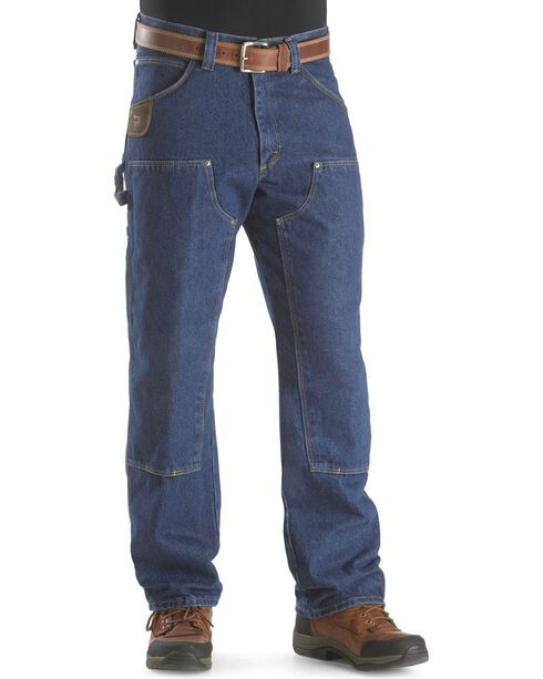 Wrangler Jeans - Riggs Relaxed Fit Utility Jeans, Antique Indigo, hi-res