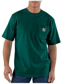 Carhartt Men's Dark Green Loose Fit Pocket Short Sleeve Work T-Shirt , Dark Green, hi-res