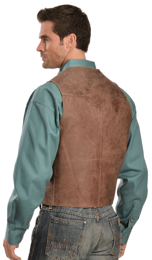 Scully Western Lamb Vest, Brown, hi-res