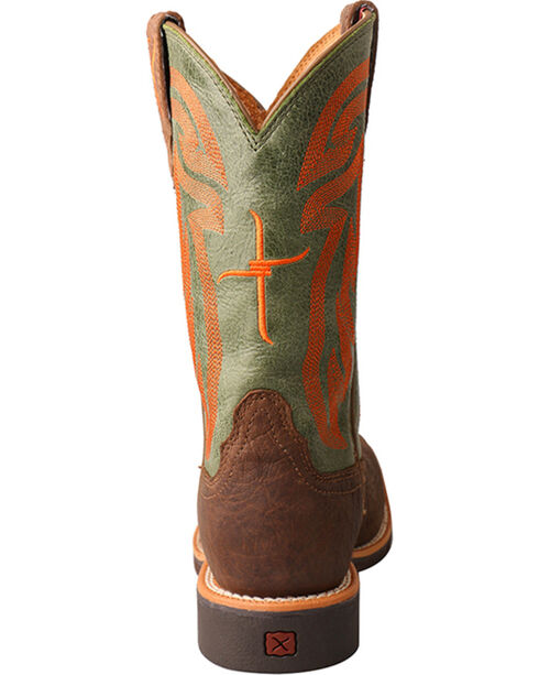 Hooey by Twisted X Youth Boys' Brown Cowboy Boots - Wide Square Toe , Lt Brown, hi-res