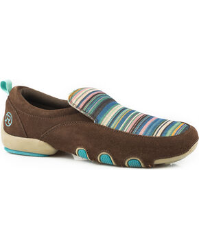 Roper Women's Brown Bailey Casual Driving Mocs , Brown, hi-res