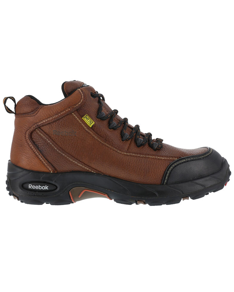 Reebok Men's Tiahawk Sport Hiker Work Boots - Composite Toe, Brown, hi-res