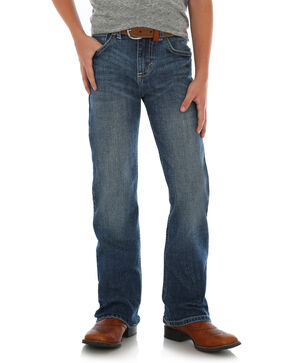 Wrangler 20X Boys' Mitchell Vintage Stretch Denim Boot Jeans , Blue, hi-res