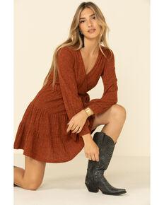 HYFVE Women's Ribbed Knit Surplice Dress, , hi-res