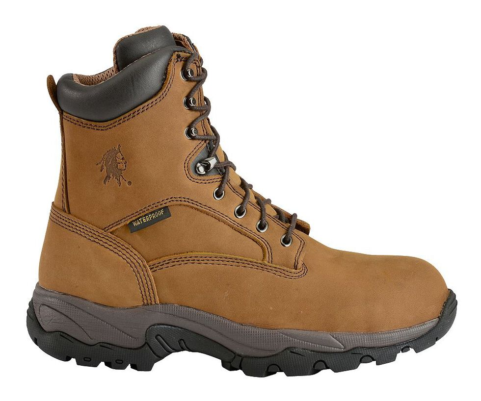 "Chippewa Waterproof & Insulated Bay Apache  8"" Lace-Up Work Boots - Comp Toe, Bay Apache, hi-res"
