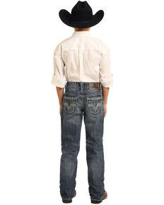 Rock & Roll Denim Boys' BB Gun Medium Vintage Bootcut Jeans , Blue, hi-res