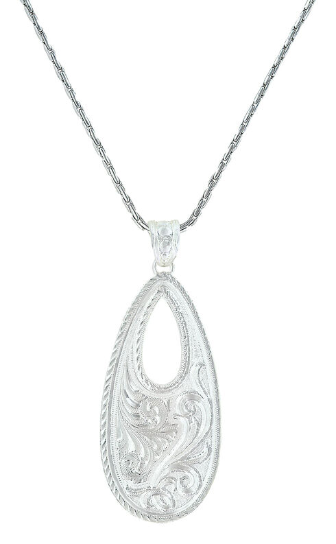 Montana Silversmiths Women's Winter's Forever Basket Necklace , Silver, hi-res