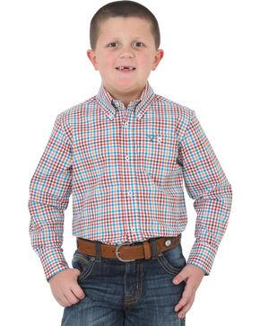 Wrangler Boys' 20X Advanced Comfort Button Down Shirt , , hi-res