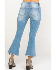 Miss Me Women's Cropped Flare Jeans, Light Blue, hi-res
