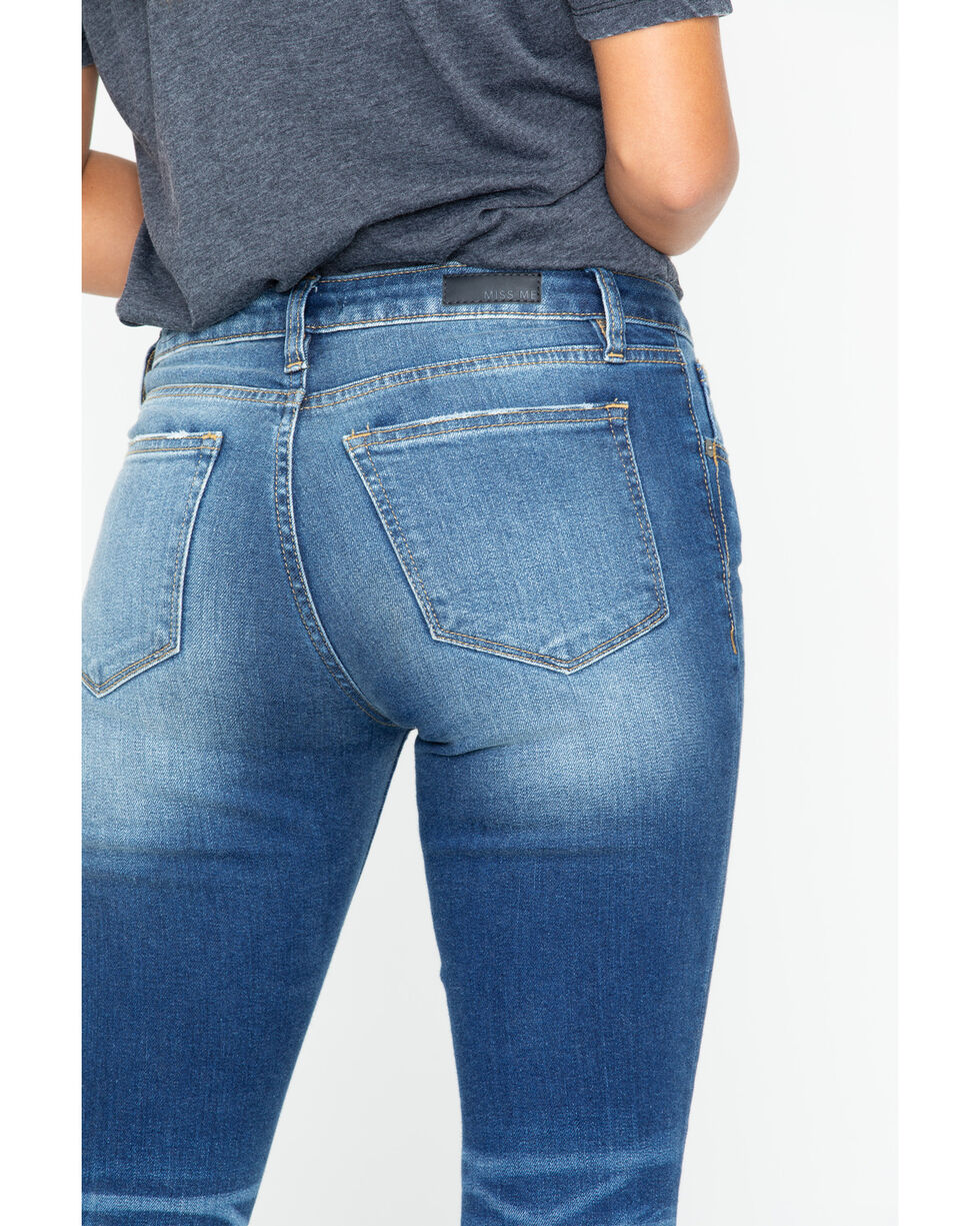 Miss Me Women's New Rules Mid-Rise Ankle Skinny Jeans, Indigo, hi-res