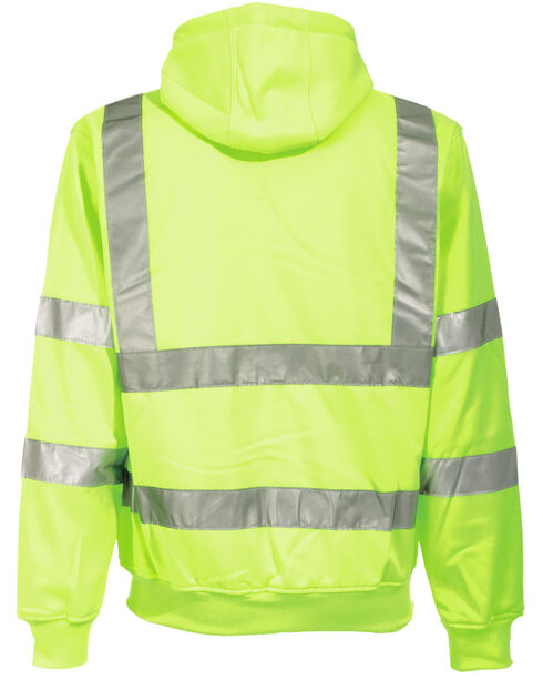 Berne Yellow Hi-Visibility Lined Hooded Sweatshirt - 3XT and 4XT, Yellow, hi-res