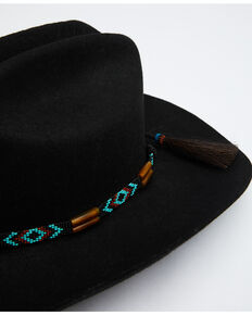 Austin Accent Amber Horn Beaded Hat Band, Turquoise, hi-res