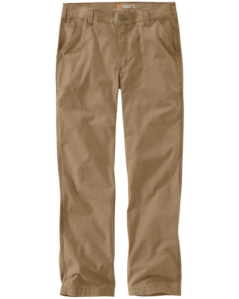 Carhartt Men's Rugged Flex Rigby Dungaree Work Pants, Dark Khaki, hi-res