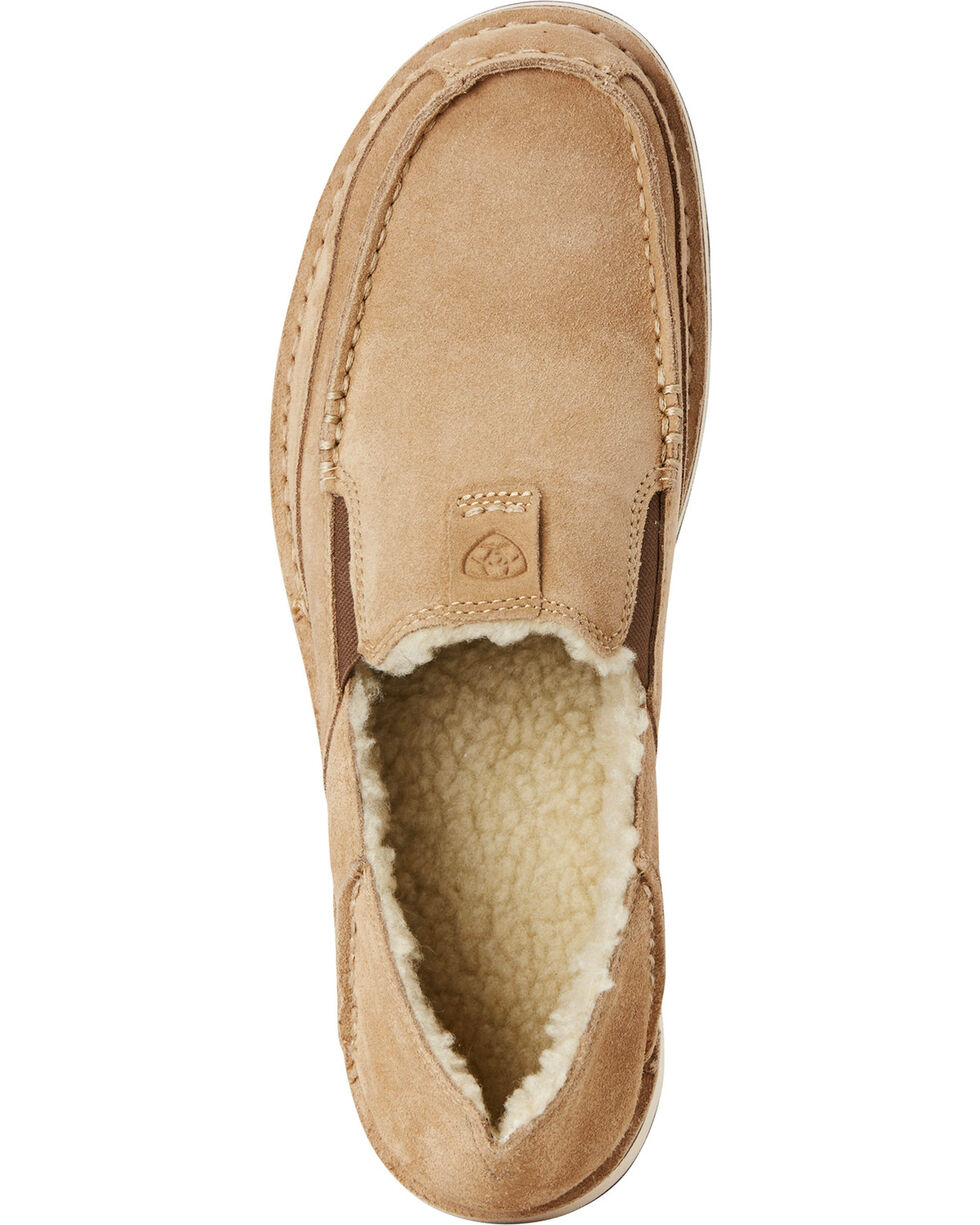 Ariat Men's Fleece Cruiser Shoes - Moc Toe, Taupe, hi-res