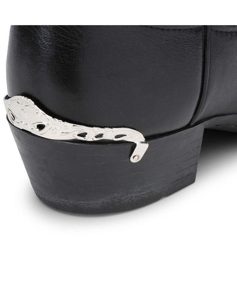 Cutout & Swirl Design Heel Rand, Silver, hi-res