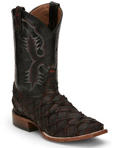 Tony Lama Men's Anchor Black Cherry Western Boots - Wide Square Toe, Burgundy, hi-res