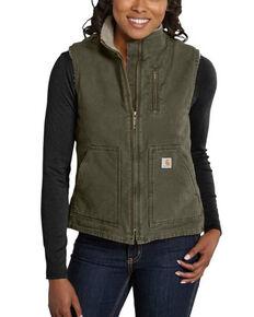Carhartt Women's Sandstone Vest, Pine, hi-res