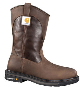 Carhartt Men's Wellington Work Boots - Composite Toe, Brown, hi-res