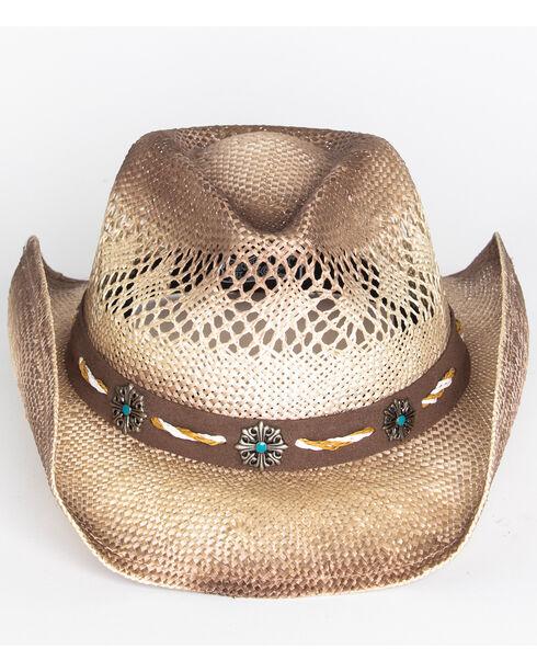 Cody James Men's Shaggy Straw Hat , Brown, hi-res