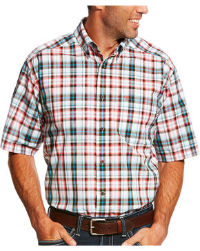 Ariat Men's Neilson Performance Short Sleeve Plaid Shirt - Big & Tall , Multi, hi-res