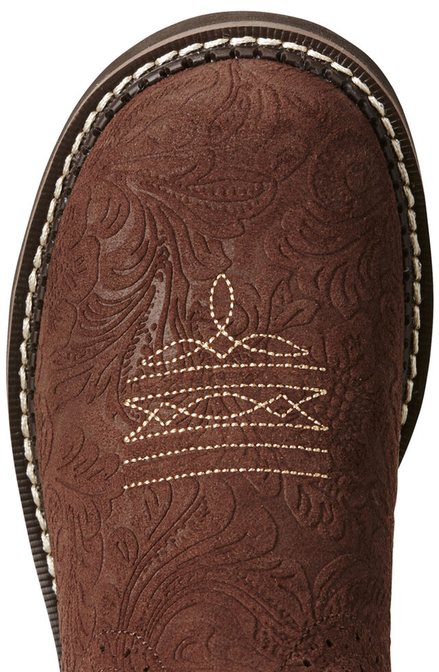 Ariat Fatbaby Brown Heritage Cowgirl Boots - Round Toe, , hi-res