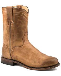 Roper Men's Roderick Western Boots - Round Toe, Brown, hi-res