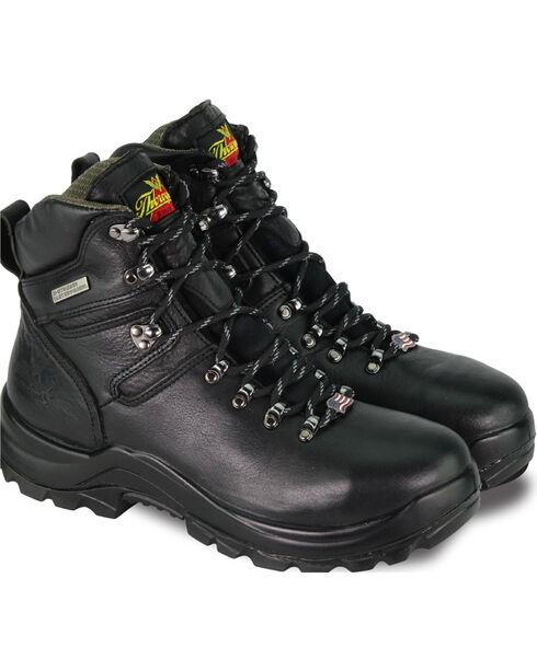 """Thorogood Men's 6"""" Omni Waterproof Work Boots - Steel Toe, Black, hi-res"""