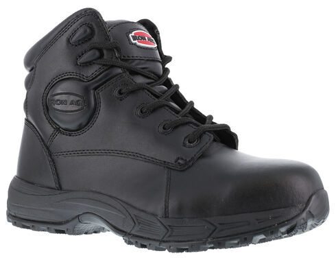Iron Age Men's Ground Finish Steel Toe Work Boots, Black, hi-res