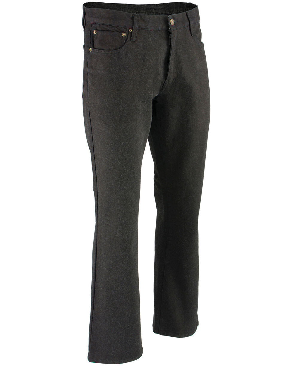 "Milwaukee Leather Men's Black 34"" Aramid Infused 5 Pocket Loose Fit Jeans, Black, hi-res"