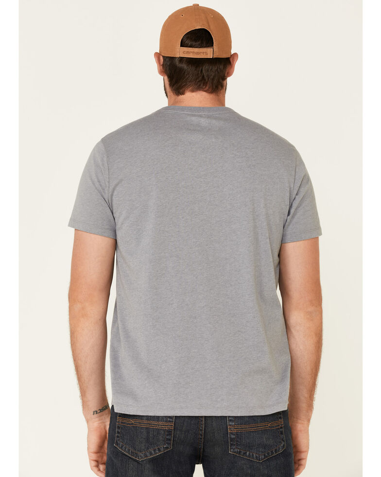 Rock & Roll Denim Men's Wild West Rodeo Tour Graphic T-Shirt , Grey, hi-res