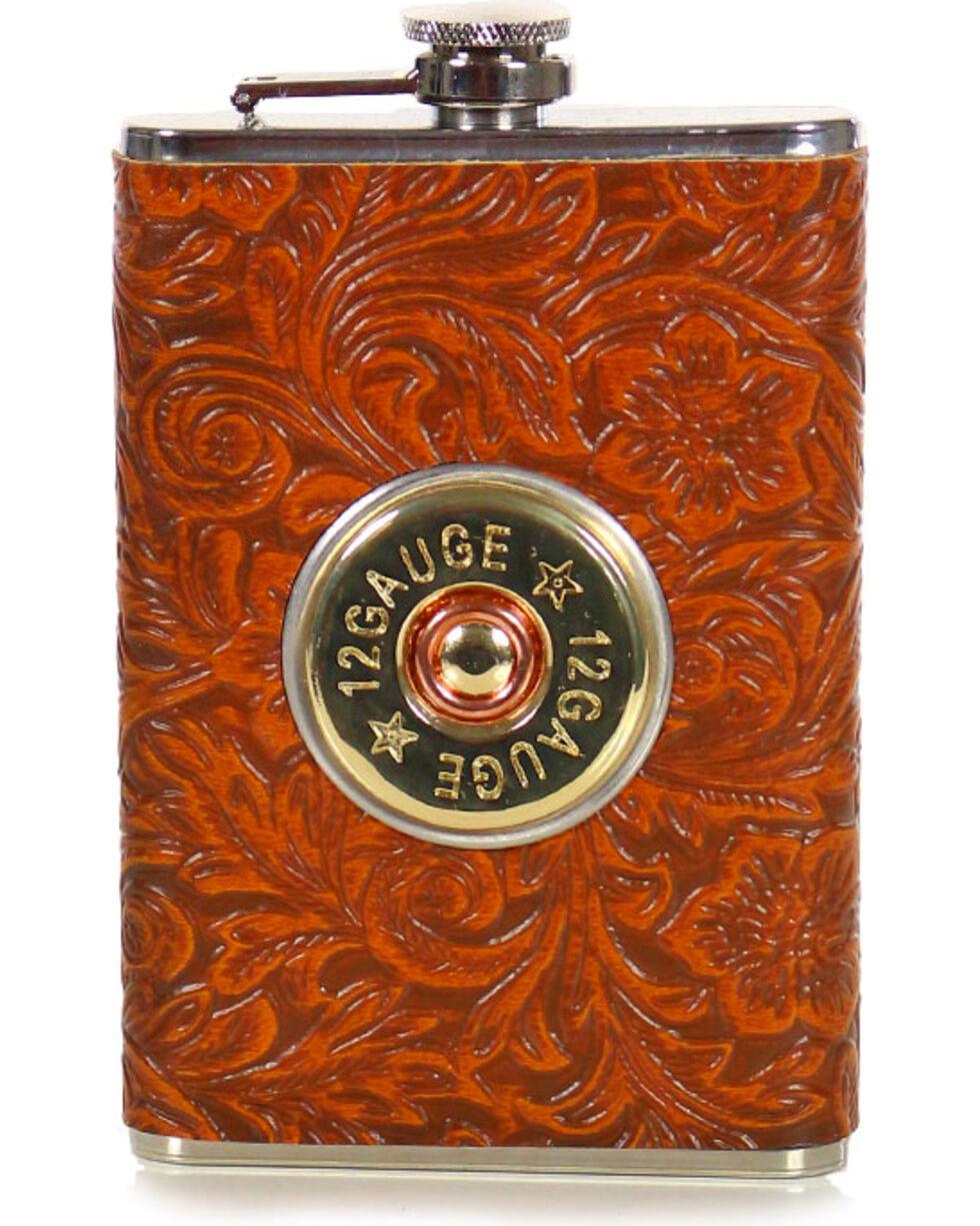 BB Ranch 12 Gauge Tooled Flask, No Color, hi-res