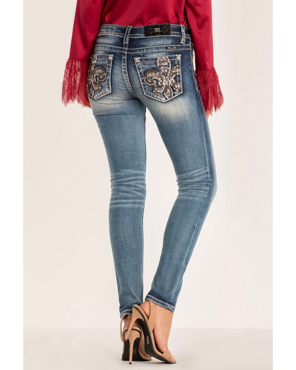 Miss Me Women's Hailey Skinny Jeans, Blue, hi-res