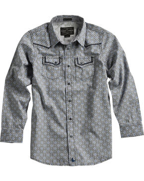 Cody James Boys' Geo Pattern Long Sleeve Shirt , Grey, hi-res