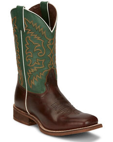Nocona Men's Davis Honey Western Boots - Square Toe, Brown, hi-res