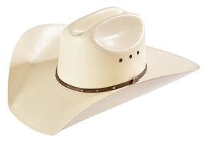 Justin Men's 10X Brownwood Brown Fancy Band Hat, Natural, hi-res