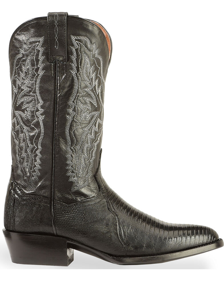 Dan Post Men's Raleigh Lizard Western Boots - Medium Toe, Black, hi-res