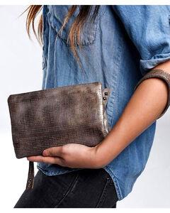 Bed Stu Women's Bayshore Teak Lux Wallet/Clutch/Crossbody Bag, Distressed Brown, hi-res