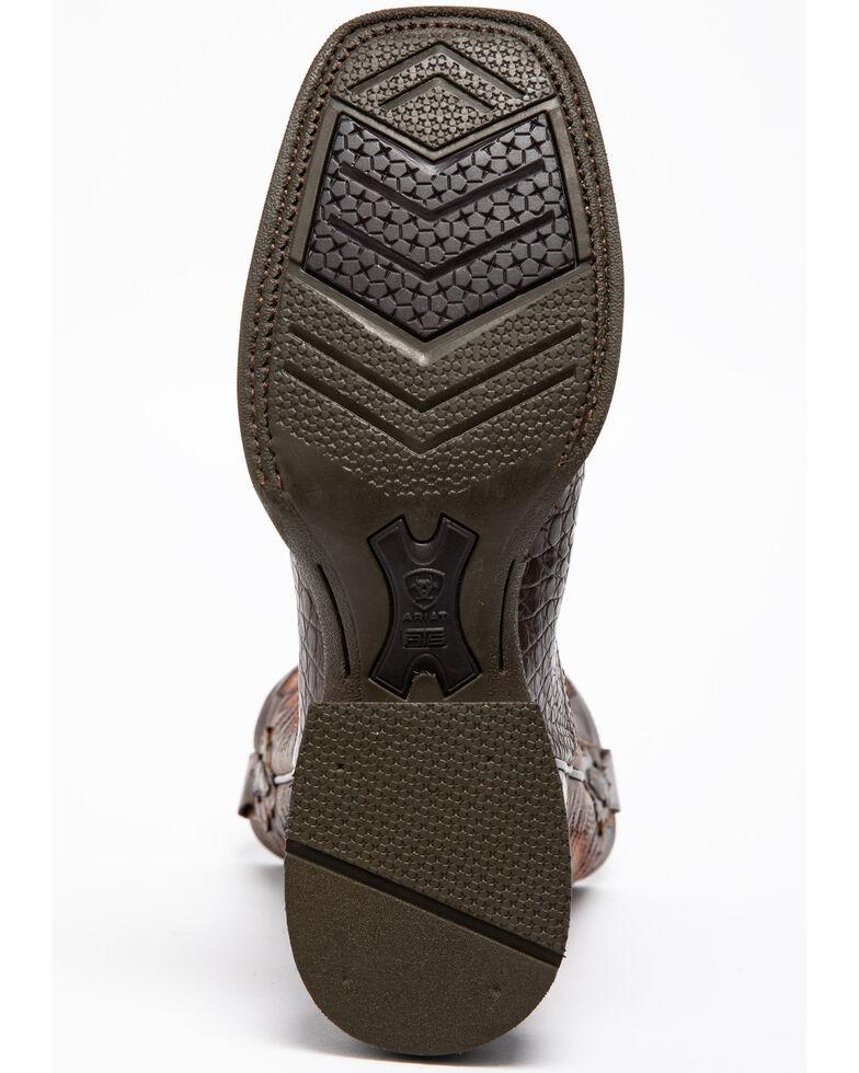 24c9c5f33a6 Ariat Men's Double Down Pecan Caiman Belly Cowboy Boots - Square Toe