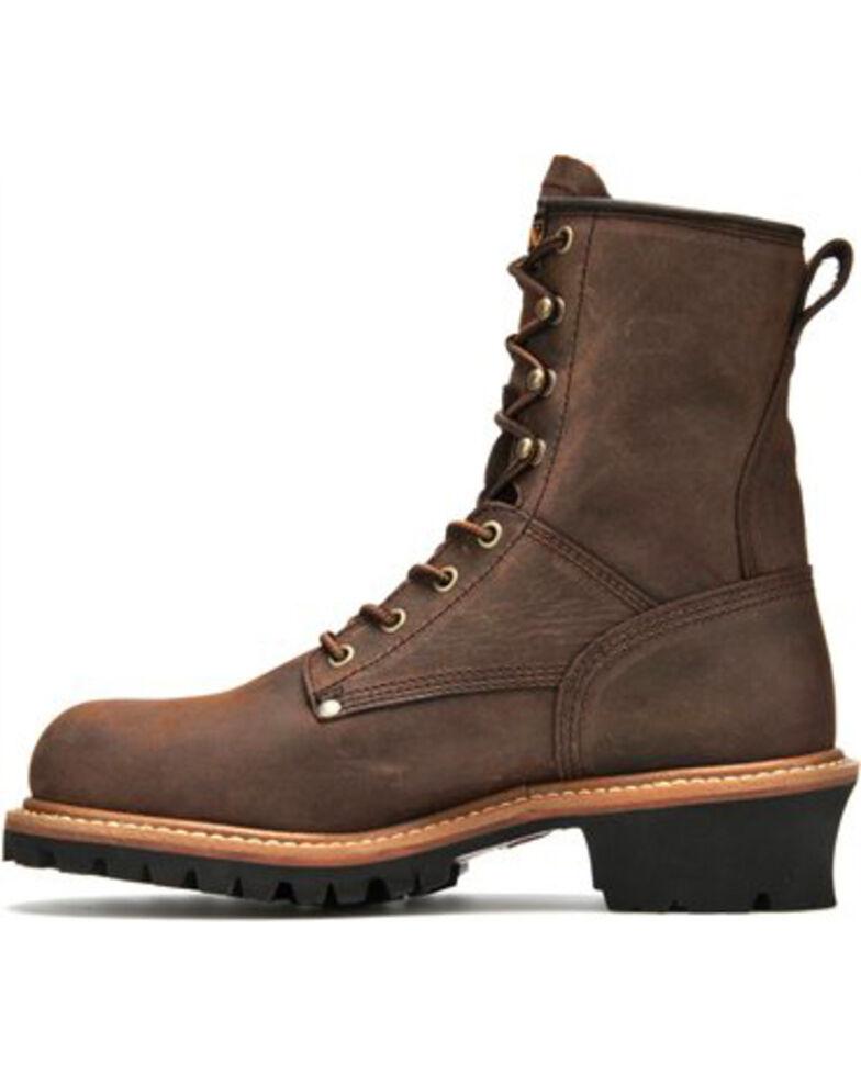 Carolina Men's Brown Waterproof Logger Boots - Steel Toe, Brown, hi-res